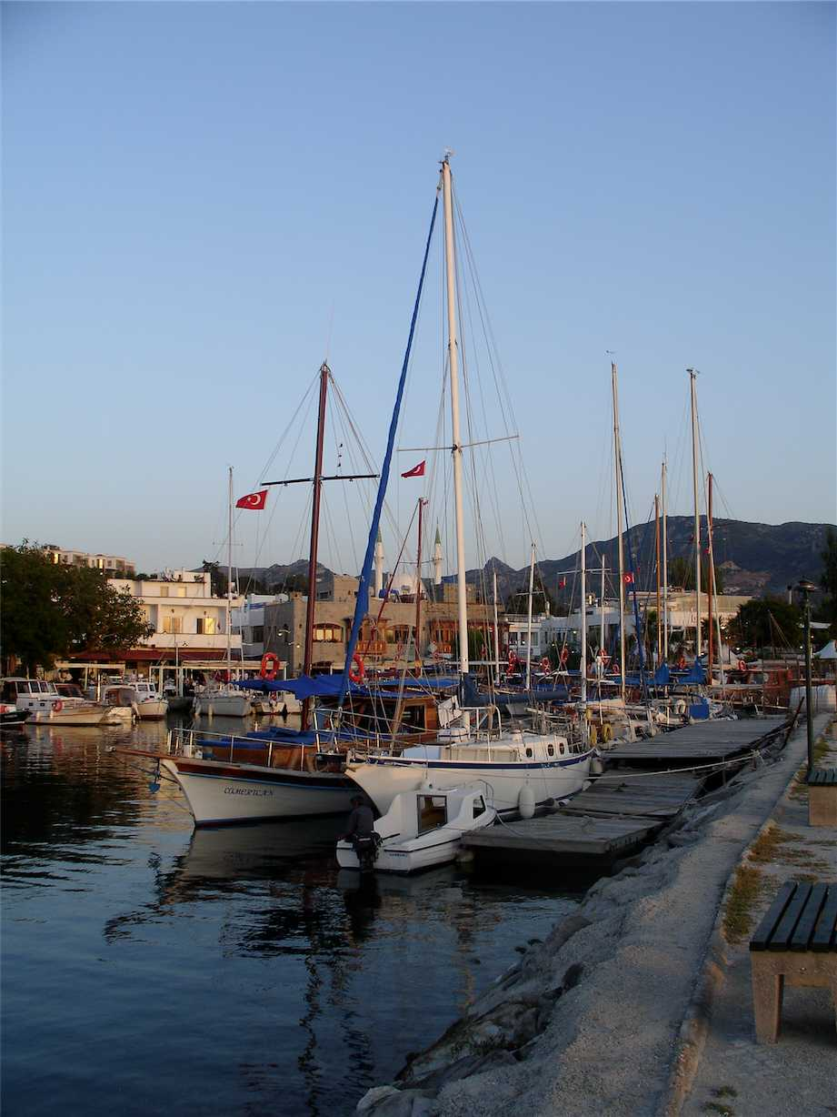Boats in Yalikavak Harbour Bodrum Peninsula Turkey