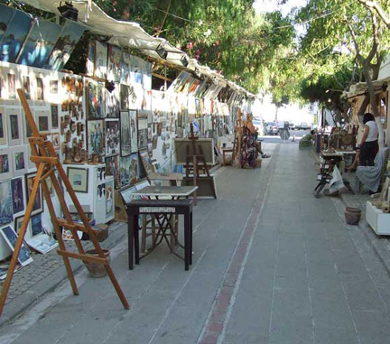 Yalikavak street of artists on Bodrum Peninsula Turkey