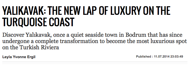 Daily Sabah Yalikavak the New Lap of Luxury