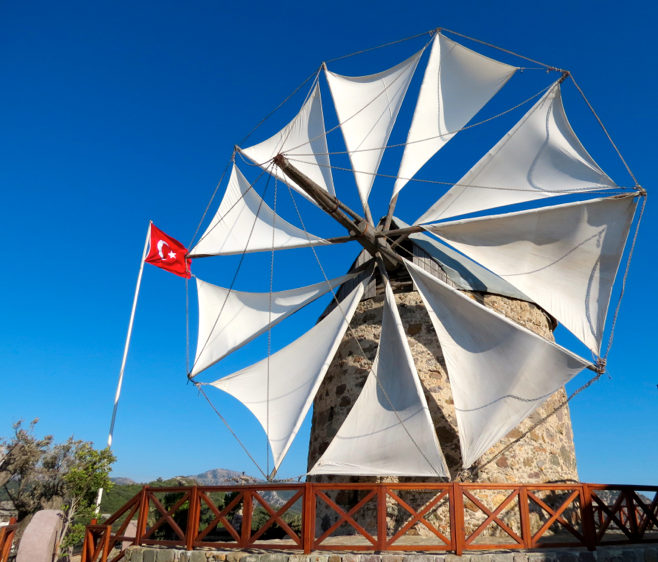 Yalikavak Windmill Bodrum Peninsula Turkey