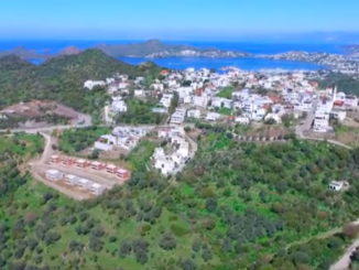 View of Geris village from drone
